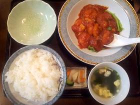 上海エビチリ定食