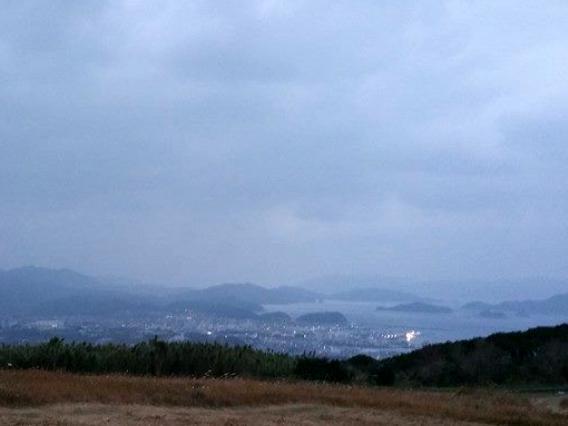 鬼岳からの福江の町