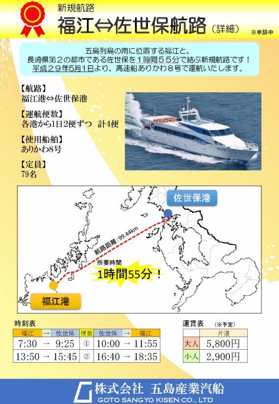 福江-佐世保高速船就航